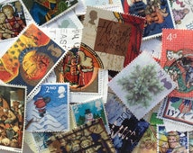 30 Assorted UK Christmas Postage Stamps