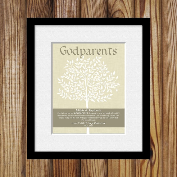 Godmother Wedding Gift: Personalized Gift For Godparents Godparents Poem Gift From