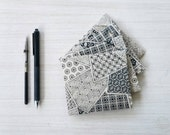 Black and White Thank You Cards - Thank You Card Set with Envelopes - Blank Thank You Cards - Black and White Cards