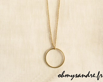 Saltire circle gold filled - 925 Silver