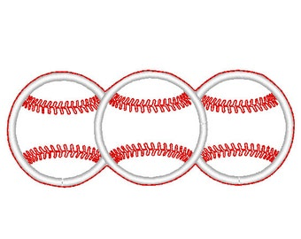 Baseballs 2 Headband Slip'em design Instant Download
