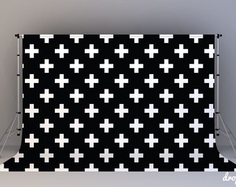 Black Swiss Cross - Photography Backdrop