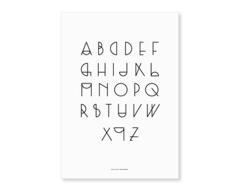«Geometric typographic poster» ABC»
