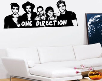 One Direction Wall Art   Vinyl Wall Art Sticker Decal   1D Four Album