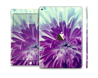 The Vivid Purple Flower Skin Set for the Apple iPad (All Models Available)