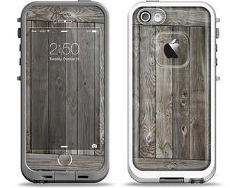The Wooden Wall-Panel Apple iPhone LifeProof Case Skin Set