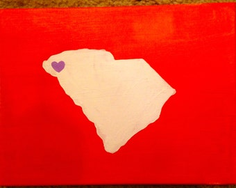State and Heart Canvas