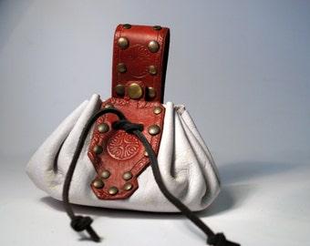 Money bag red/white