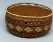 Vintage  Hupa Basket - Mint Condition - Rattle Snake Band Basket - Native American Basket -  Indian Basket - Home Decor