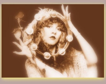 STEVIE NICKS WITCHY Bohemian Gypsy Rock Goddess Magical Mystical Vintage Photo Art Print
