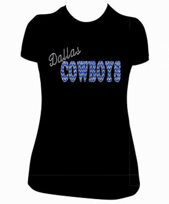 Custom dallas cowboys shirt super sparkly chevron by for Custom made shirts dallas