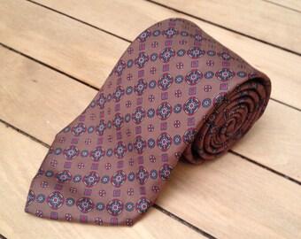 Vintage silk patterned tie