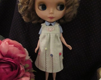 Blythe Outfit Clothing Light green Flannelet Dress
