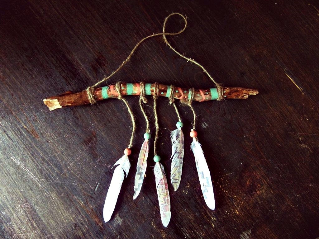 Aztec Driftwood Mobile Bohemian Wall Hanging Made To Order Boho Tribal Decor