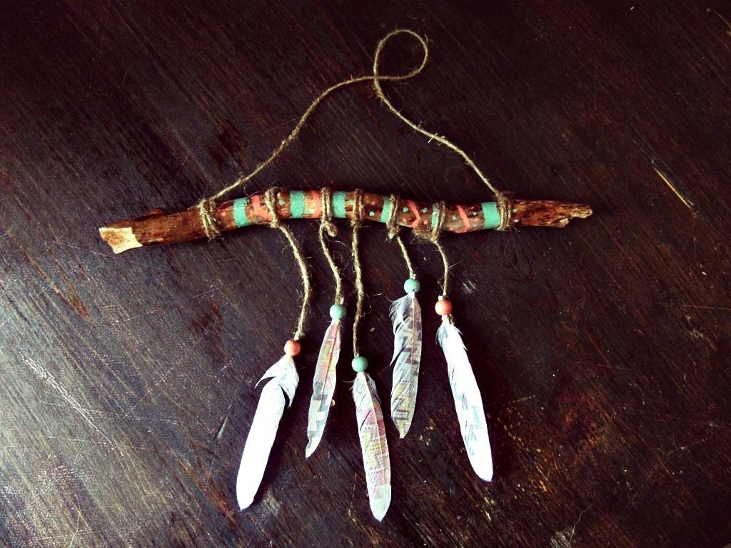 aztec driftwood mobile native american boy nursery decor