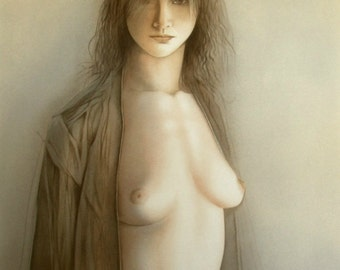 """MAZILU Georges - """"Femme Nue"""" hand signed and numbered 228/300"""