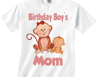 Monkey theme adult shirt for a birthday party