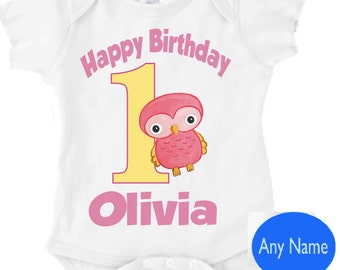 Personalized first birthday owl outfit - for boy or girl this first birthday owl theme outfit is great for the party