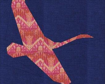 Swan- Block 1- In Flight Quilt-Along