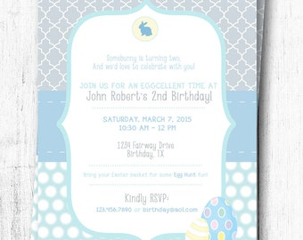 Easter Birthday Invitation - Boy - 5x7