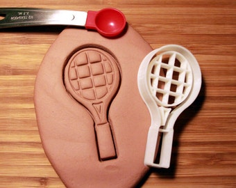 Tennis Racket Cookie Cutter Made to order F0169