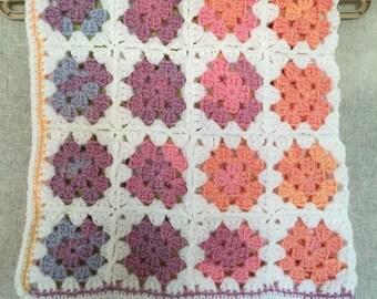 Crochet Baby blanket - Pastel Rainbow
