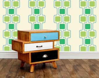 Squares Vinyl Wall Pattern Decal