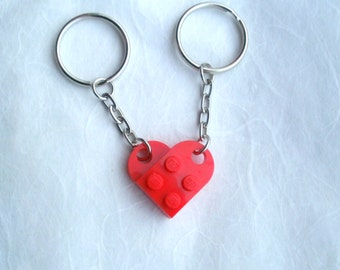 lego heart couples keyrings