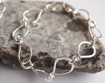 Large Chain Chunky Silver Bracelet