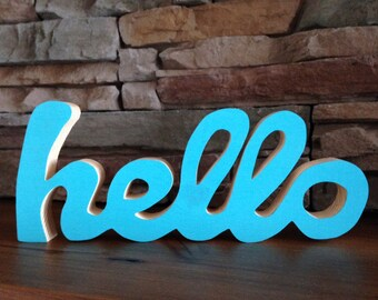 Hello or Love Wood Sign
