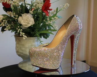 Louboutin Shoes, Strass Wedding Shoes, Louboutin Strass, Strass Service, Swarovski Shoe, Bling Shoes, Louboutin Daffodile, Louboutins, Shoes