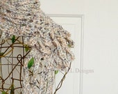 Rockefeller Beseme Shimmering Scarf, Handmade Crochet, Crochet Accessories, Winter Accessory, Acrylic Wool & Metallic CR1037 VLL Designs