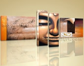"""Huge Canvas Stretched Giclee Print Feng Shui Zen Wall Art Buddha OM Inner Framed Home Decor Ready To Hang 79""""x40"""""""