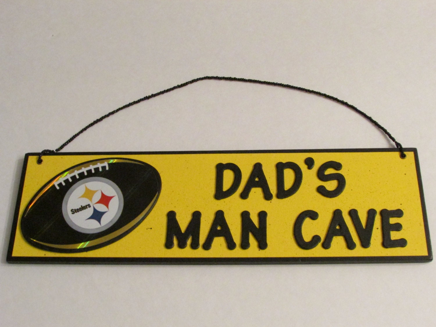 Man Cave Signs Nfl : Nfl pittsburgh steelers football dad s man cave sign