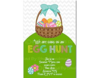 easter  Invitations - printable - DIY - digital file (Easter6)