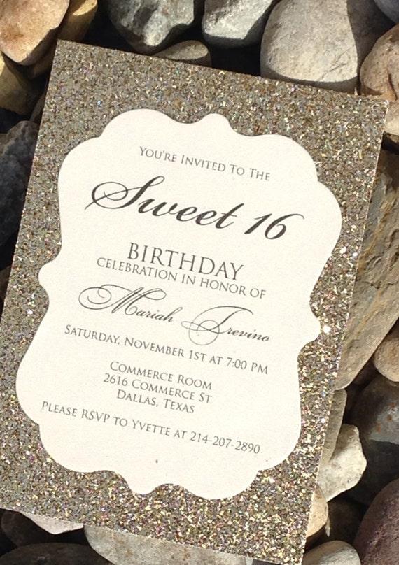 Sweet 16 Birthday Invitation Sweet 16 Invitation Quinceanera
