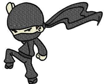 Ninja Machine Embroidery Pattern