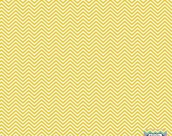 Yellow gold and white mini chevron craft  vinyl sheet - HTV or Adhesive Vinyl -  zig zag pattern HTV1514