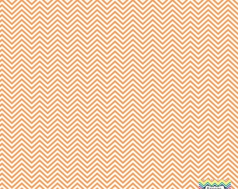 Peach and white mini chevron craft  vinyl sheet - HTV or Adhesive Vinyl -  zig zag pattern HTV1520