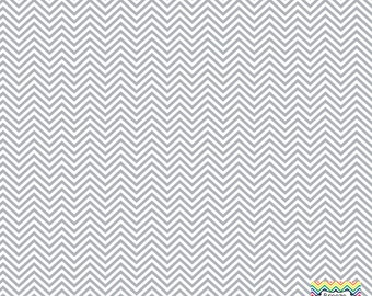 Grey and white mini chevron craft  vinyl sheet - HTV or Adhesive Vinyl -  zig zag pattern HTV1531