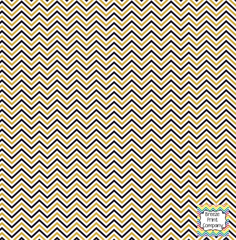 Black Gold And White Mini Chevron Craft Vinyl Sheet Htv