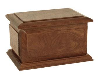 Boston Walnut Companion Wood Cremation Urn