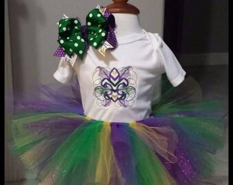Mardi Gras tutu set 3pc