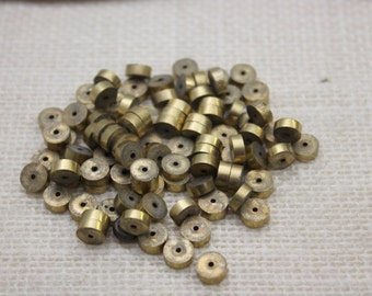 Solid Brass 5mm Heishi Spacer Beads (40 Pieces)