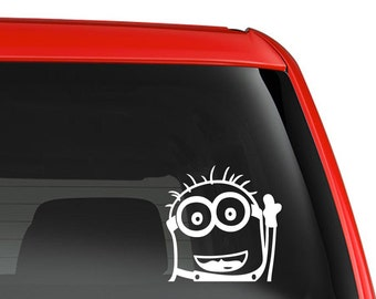 Minion Sticker Etsy - Minion custom vinyl decals for car
