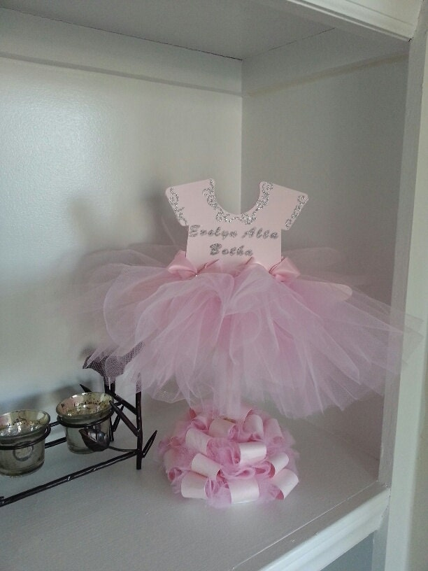 Double sided personalized pink tutu dress centerpiece