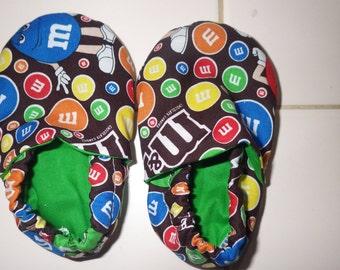 Crib Shoes with M&M print