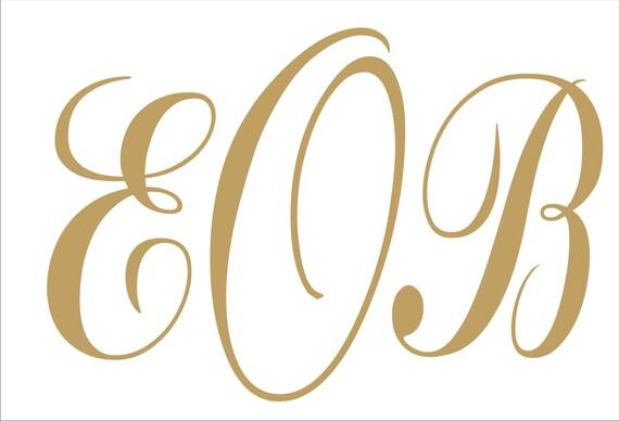 Monogram Stencils Custom