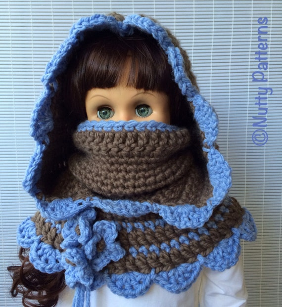 Crochet Baby Cowl Pattern : Crochet Patterns Charlotte Hooded Cowl Instant by ...