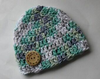 Preemie Baby Beanie Hat, Preemie Hat, Crochet Preemie Hat, Crochet Preemie Beanie Hat, Crochet baby boy shower gift, NICU beanie, NICU hat